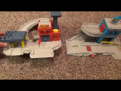 Matchbox Rescue Station Playset with Police and Fire Cars Toy Review