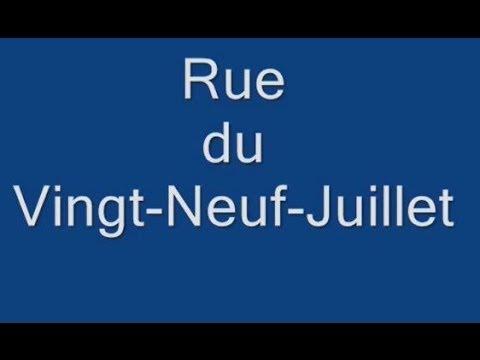 Rue du Vingt Neuf Juillet Paris Arrondissement  1er
