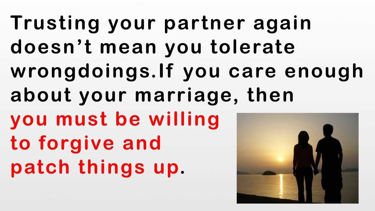How to regain trust in a marriage