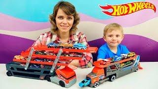 Хот Вилс Машинки для детей АВТОВОЗЫ и много машинок HOT WHEELS car transporters and race cars