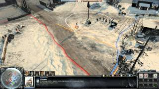 Company of Heroes 2 Gameplay: Jaeger Infantry | 2v2 on Moscow Outskirts Winter