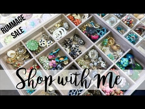 THRIFT SHOPPING | RUMMAGE SALE | SHOP WITH ME!!!