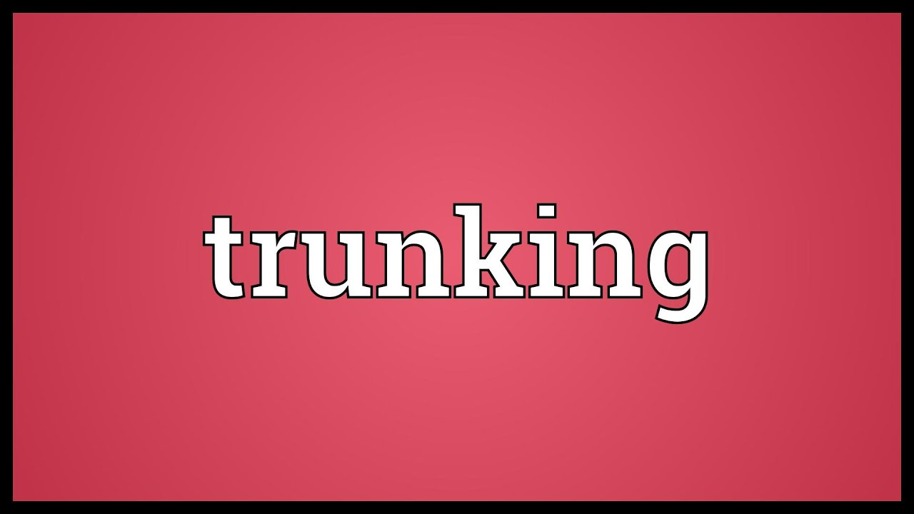 Trunking Meaning - YouTube