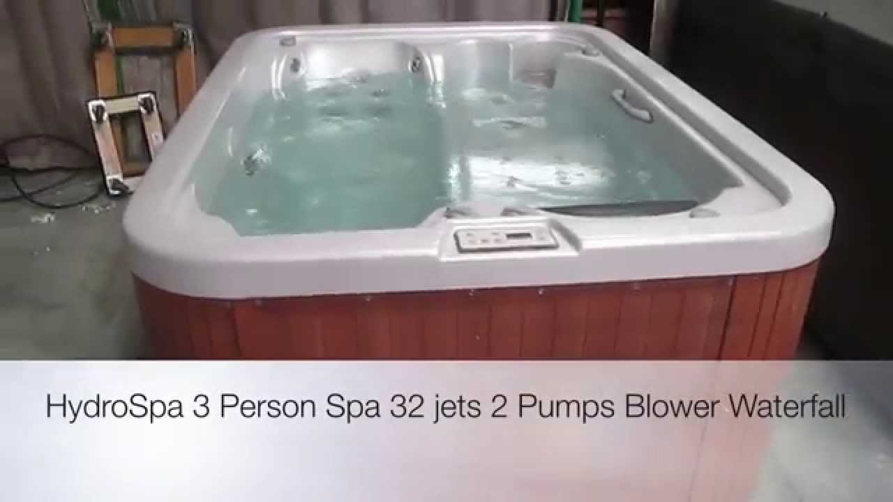 Hydro Spa Hot Tub 3 Person 32 Jets 2 Pumps Blower The Spa Guy - YouTube