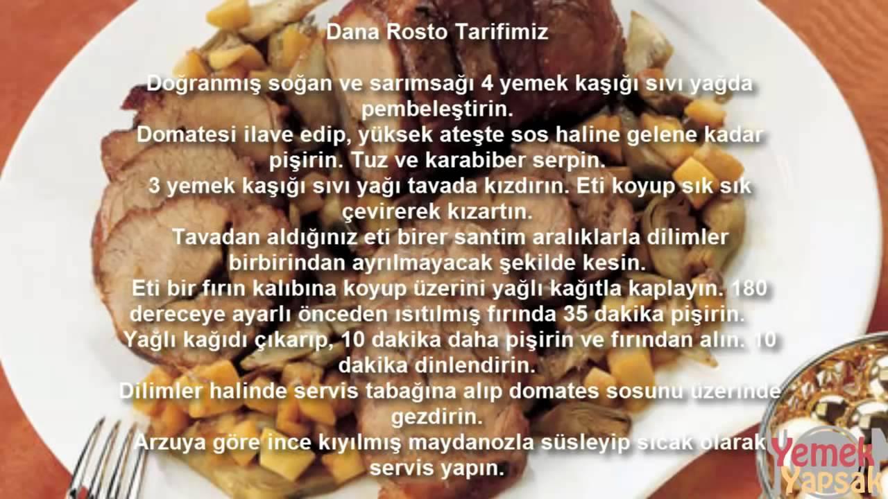 Püreli Dana Rosto Tarifi