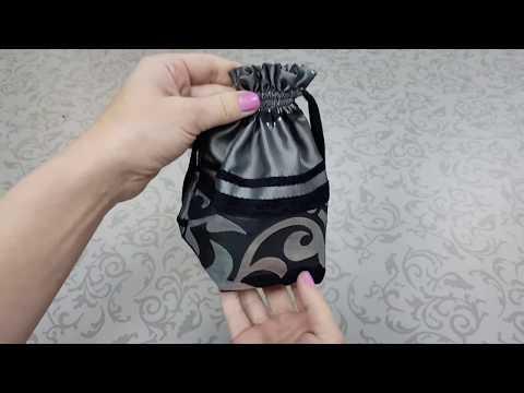 Как сшить красивый мешочек на завязках