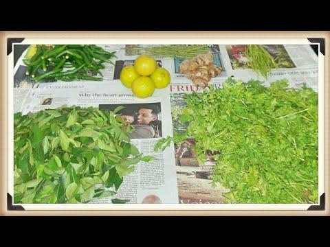 How to clean & store Coriander leaves, Curry leaves,Lemon,Ginger fresh for longtime in fridge?