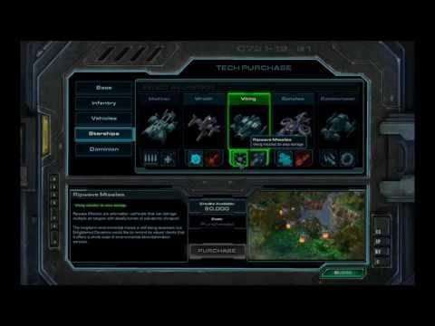Starcraft 2 Wings of Liberty - Armory Upgrades, Cantina Mercenaries & Laboratory Researches