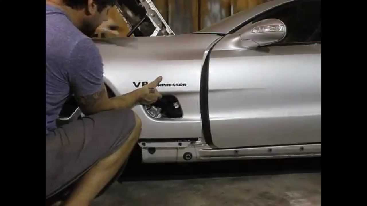 FENDER REMOVAL DIY R230 Mercedes Benz SL SL500 SL550 SL55 SL600 SL63 SL65 AMG  YouTube