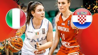 LIVE 🔴 - Italy v Croatia - FIBA U16 Women's European Championship 2018