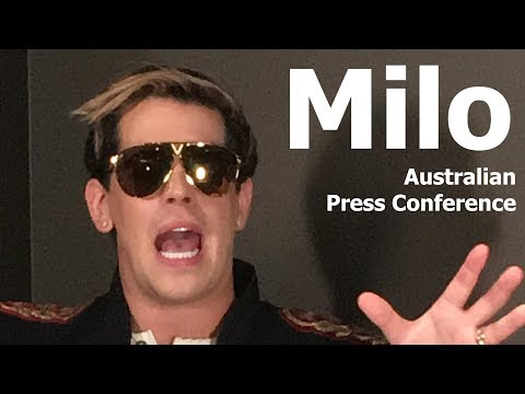 Milo Yiannopoulos - Australia Tour Press Conference