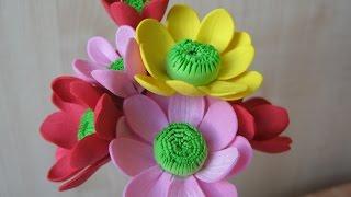 Цветы из фоамирана мастер класс для начинающих - Хризантемы(, 2015-05-19T15:44:22.000Z)