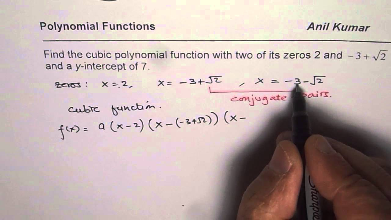 how to find the equation of a polynomial function given points