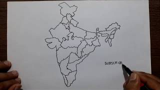 How to draw the map of India with states.