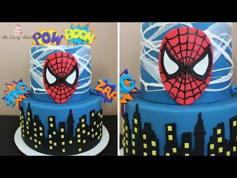 Spiderman Cake Tutorial!
