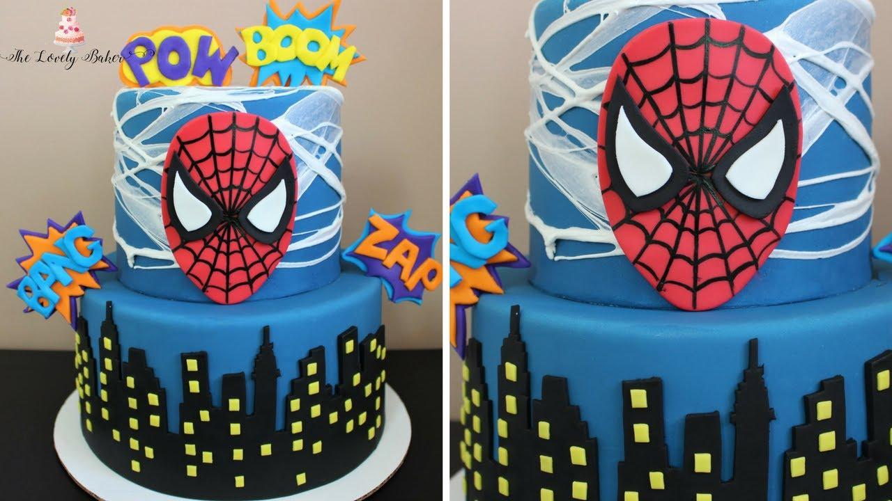 Spiderman cake tutorial youtube spiderman cake tutorial maxwellsz
