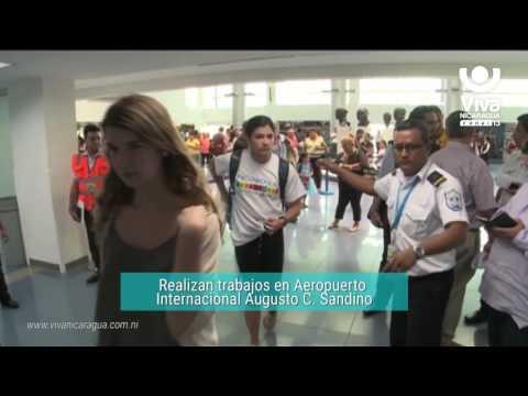Realizan trabajos en el sistema eléctrico del Aeropuerto Augusto C  Sandino