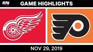 NHL Highlights   Red Wings vs. Flyers – Nov. 29, 2019