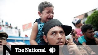 Migrant caravan reaches Guatemala-Mexico border on its way to the U.S.