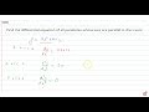 IIT JEE DIFFERENTIAL EQUATIONS Find the differential