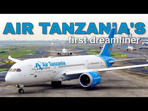 First Boeing B787 Dreamliner of Air Tanzania | Departure from Mumbai Airport