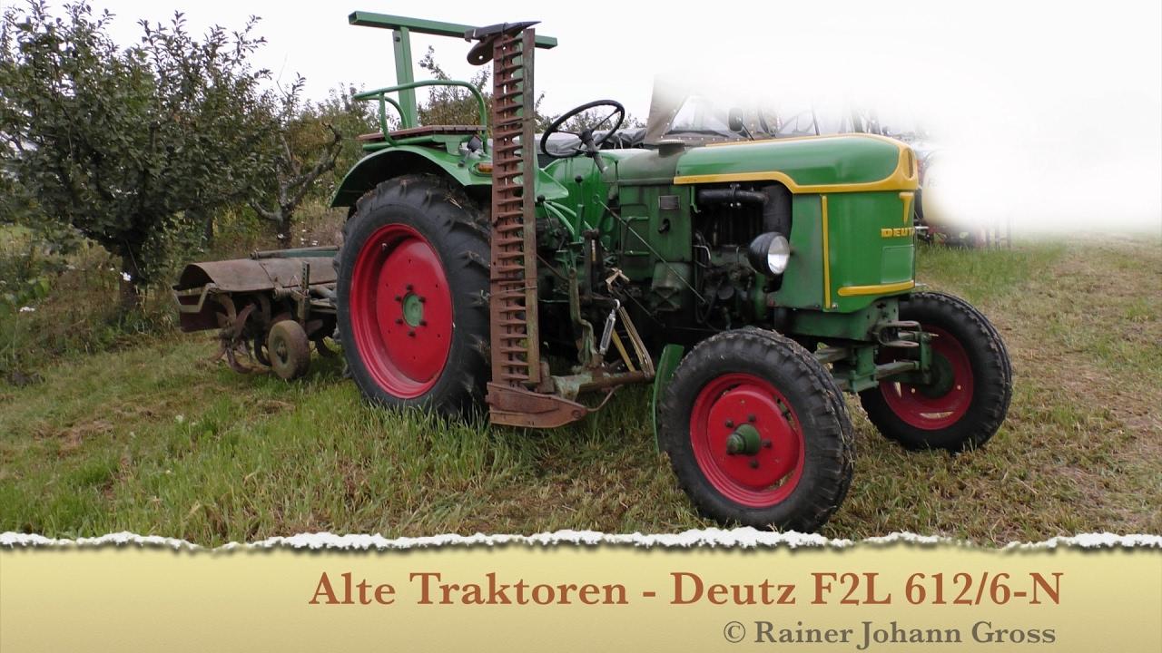 alte traktoren deutz f2l 612 6 n 1959 youtube