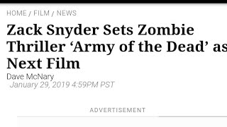 Zack Snyder Is Back! - Dawn Of The Dead Sequel Is Finally Happening