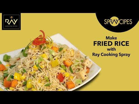 Veg Fried Rice Recipe in Less Oil with Ray Cooking Spray