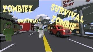 Supervivencia Zombie Extrema XD (Fail incluido :3) Unturned Capitulo 1