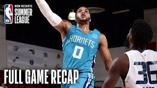 HORNETS vs JAZZ   Miles Bridges Takes Flight In Big Win   MGM Resorts NBA Summer League