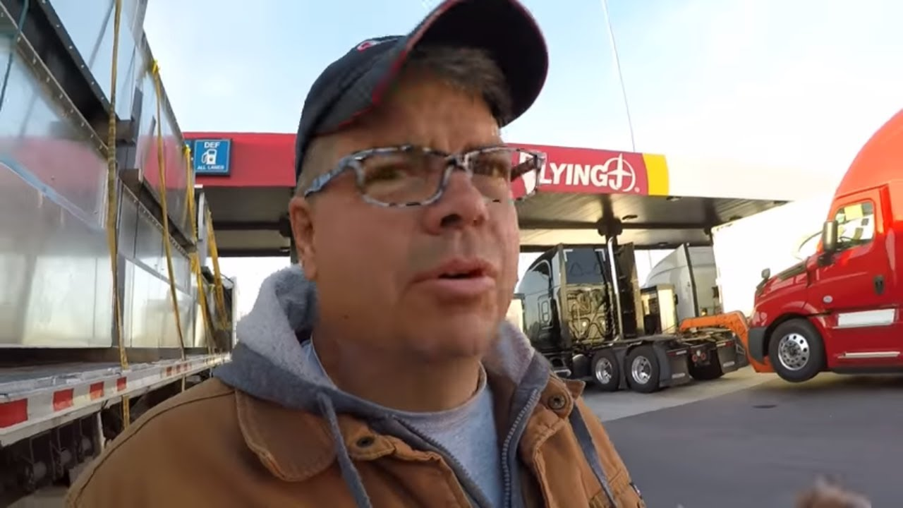 226-the-wind-and-a-oil-change-the-life-of-an-owner-operator-flatbed-truck-driver-vlog