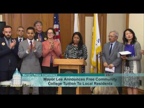 Mayor Lee Announces Free Community College Tuition to Local Residents