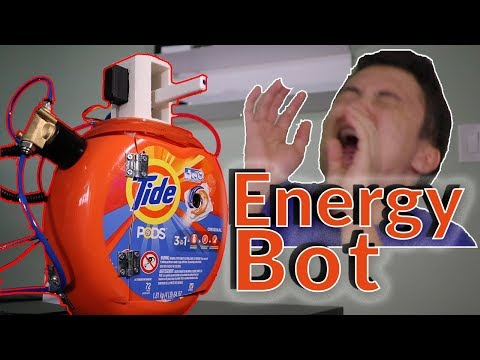 A Robot That Shoots Energy Drink at You When You Get Tired