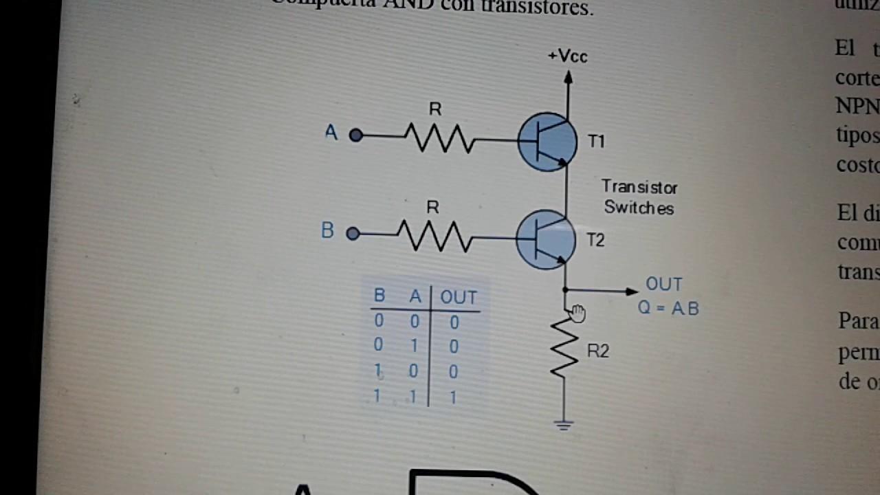 Circuito Xor : Compuerta xor con transistores youtube