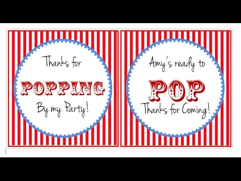 How To Make Popcorn Bag Labels With MS Word