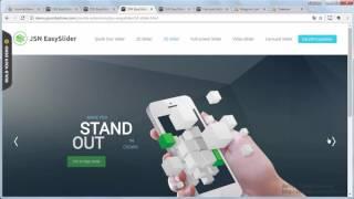 видео Слайдер joomla при помощи компонента easyslider урок 1