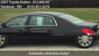 2007 toyota avalon xl 4dr sedan for sale in westover md 218
