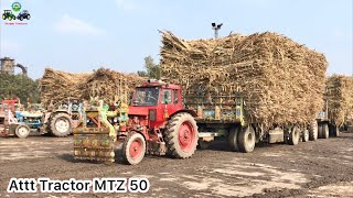 Belarus MTZ 50 | Super Power Tractor Finally Pull Trailer After Hard Struggle | Punjab Tractors