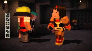 Minecraft: Story Mode Ep 4 - A Block And A Hard Place - Part 1 (Choice Path 2) Petra, Lukas Leaves