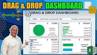 Create This Dynamic Drag & Drop Dashboard In Excel | NEVER SEEN BEFORE [Plus Bonus Training]
