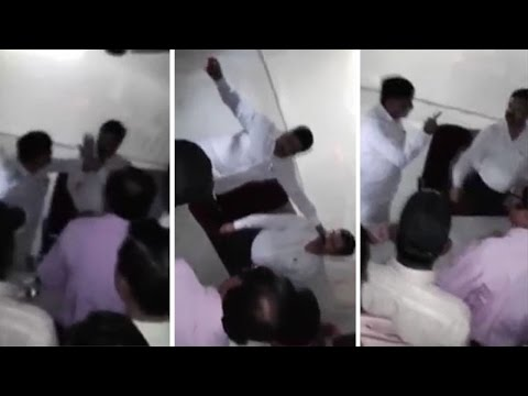 Caught on Camera: NCP MLA slaps deputy collector