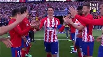 DAZN: Spieler stehen Spalier für Fernando Torres