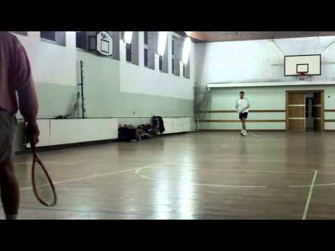 lepikoja - SpeedBadminton training - Koja and Mata - Belgrade - part 01/03
