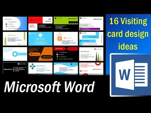 16 Visiting card design ideas in MS Word Part 1 Microsoft Word