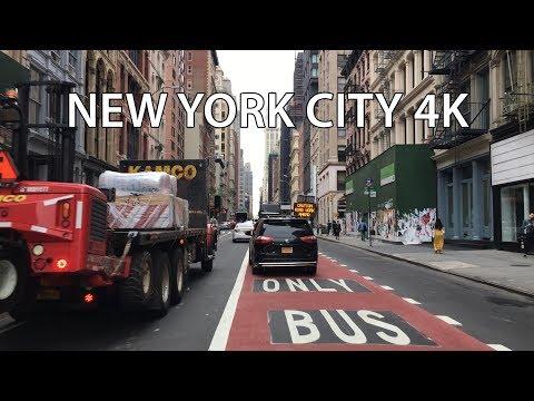 New York City 4K - Lower Manhattan - Driving Downtown