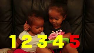 Toddler Teaches Baby Sister to Count