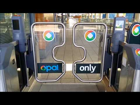 Opal Card Only Ticket Barriers at Olympic Park Station in Operation