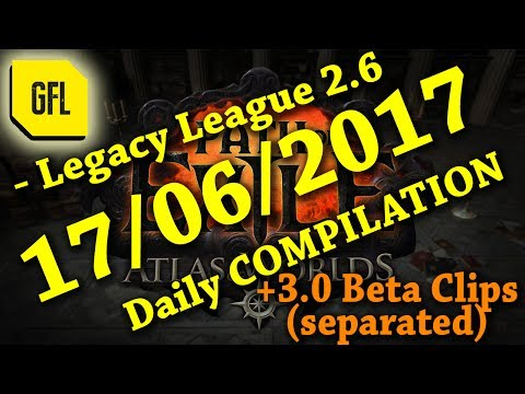 Yesterday in Path of Exile 2.6: 17/06/2017 + 1 Week Race + 3.0 Beta clips separated.