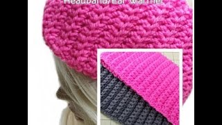 Make this Easy Crochet Headband/Ear Warmer