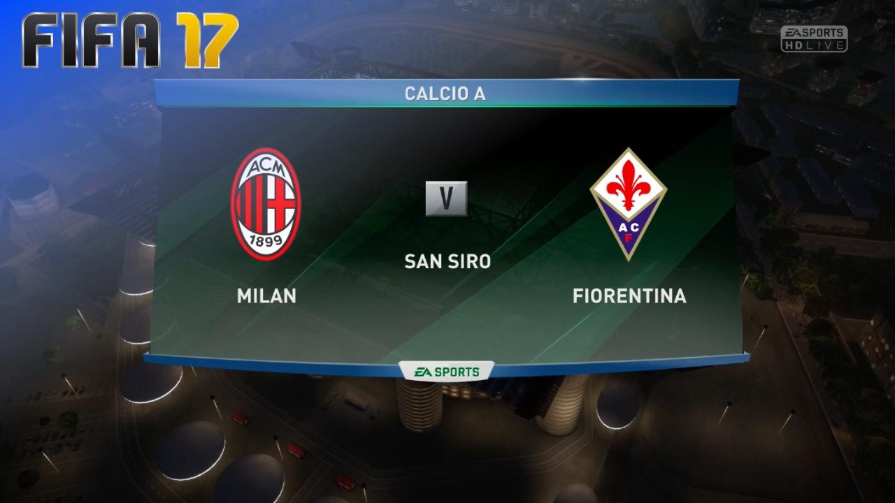 Fifa 17 ac milan vs fiorentina san siro youtube for Fifa 17 milan